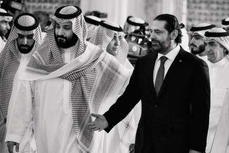 Le prince héritier Mohammed Ben Salman et le premier ministre libanais Saad Hariri, le 24 octobre, lors du«Davos du désert» à Riyad.