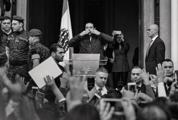 Le premier ministre libanais Saad Hariri le lendemain de son retour à Beyrouth, le 22 novembre 2017.