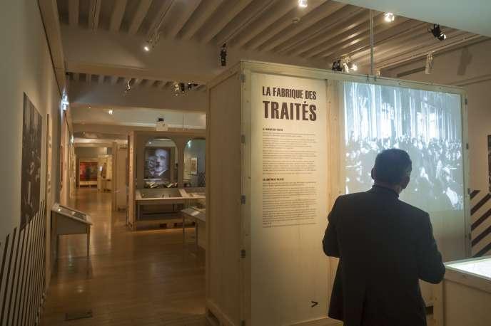 Vue de l'exposition« A l'Est la guerre sans fin, 1918-1923 » au Musée de l'armée à Paris, jusqu'au 20 janvier 2019.