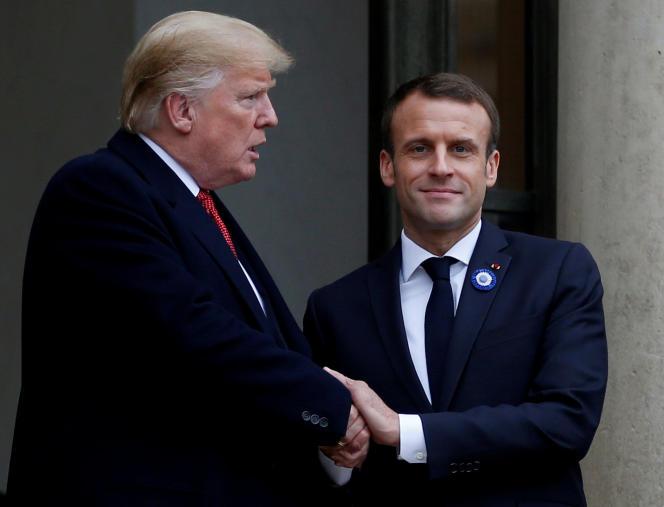 Donald Trump et Emmanuel Macron, à l'Elysée, le 10 novembre 2018.