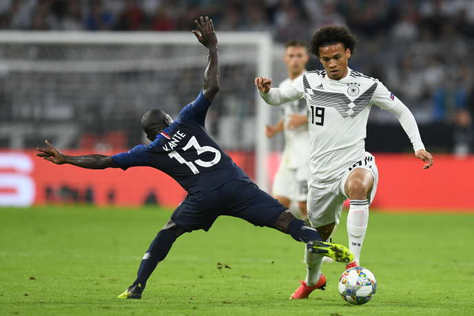 N'Golo Kanté face à Leroy Sané, le 6 septembre à Munich, en Ligue des nations.