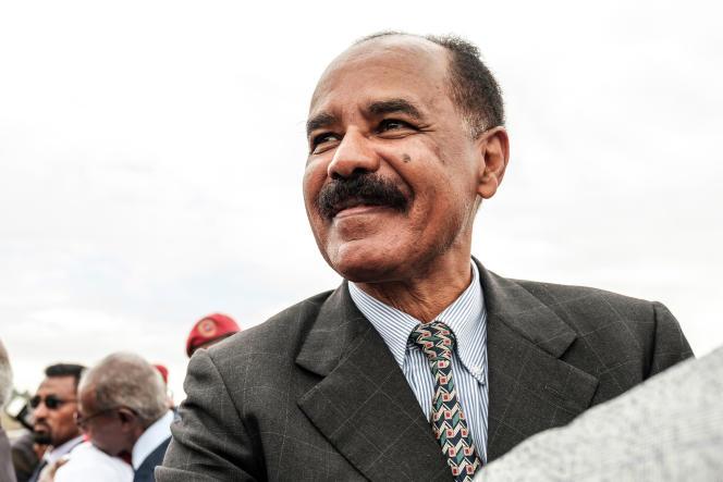Le président érythréen, Isaias Afwerki, à Gondar, lors d'une visite en Ethiopie, le 9novembre.