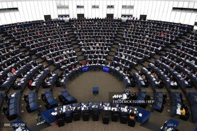 Les députés européens réunis en session plénière le 14 novembre 2018, à Strasbourg.