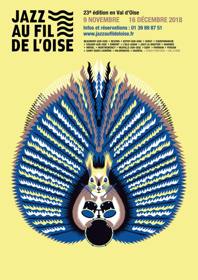 Affiche du festival Jazz au fil de l'Oise.