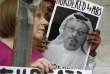 Manifestation pour la vérité sur l'affaire Khashoggi, devant l'ambassade saoudienne à Washington, le 10 octobre.