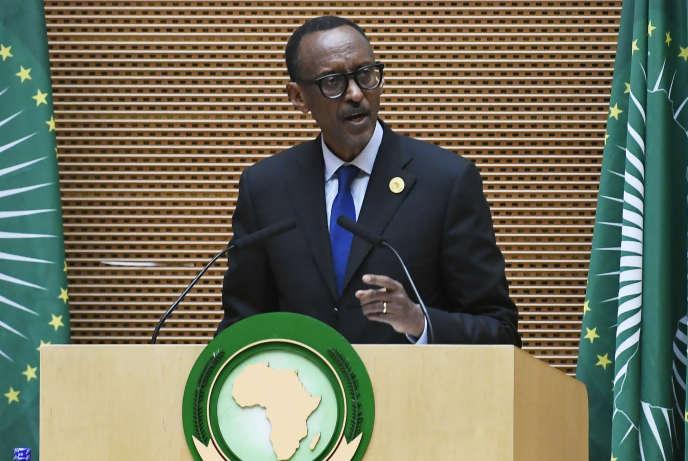 Le président rwandais, Paul Kagame, lors du 30e sommet de l'Union africaine, à Addis-Abeba, en Ethiopie, le 28janvier 2018.