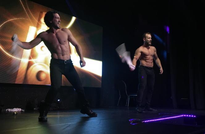 Le spectacle des Chippendales, au cabaret l'Audacieux, à Déols (Indre), en novembre.