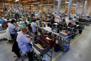 A l'usine de chaussures J.M. Westonde Limoges, le 15 novembre 2018.