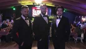Tony, 25ans, Max, 28ans, et Wayne, 32ans, trois Chippendales au cabaretl'Audacieux, à Déols (Indre), en novembre.
