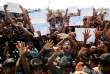 Lors d'une manifestation de Rohingya qui protestent contre leur rapatriement en Birmanie, à Teknaf (Bangladesh), le 15 novembre.