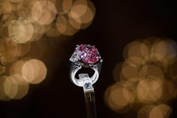 Le diamant «Pink Legacy» a été vendu plus de 50 millions de francs suisses à Genève, le 13novembre 2018.