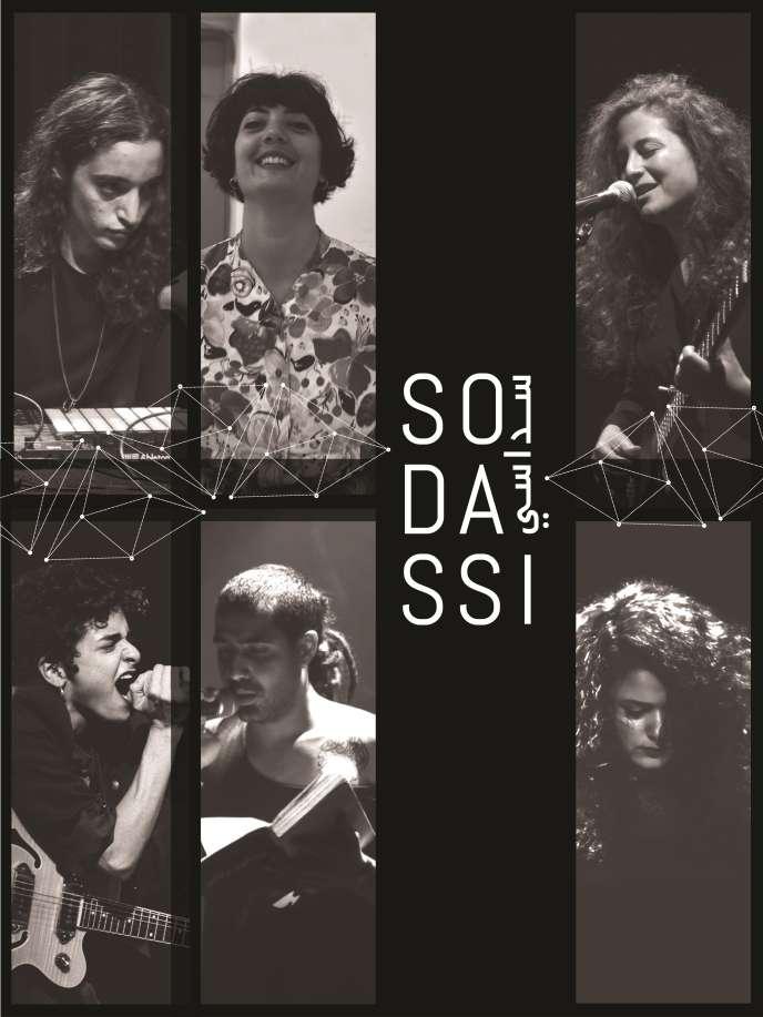 Visuel du projet« Sodassi» avec les six jeunes musiciens y participant.