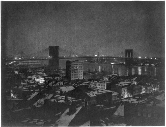 Le pont de Brooklyn, à NewYork, en1903.