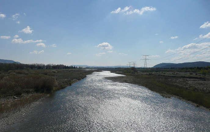 Les rives de la Durance, près de Cavaillon (Vaucluse).