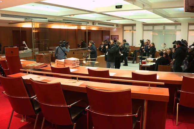 La cour d'assises de Versailles où Michel Fourniret est jugé pour meurtre, le 13 novembre 2018.