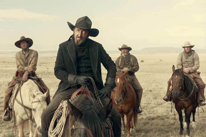 Ralph Ineson («The Man in Black»), dans «Near Algodones», un des six segments du film « La Ballade de Buster Scruggs», réalisé par Joel et Ethan Coen.
