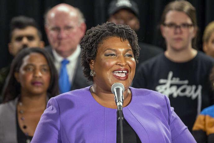 Stacey Abrams, ici à Atlanta, est entrée dans l'histoire en devenant la première Afro-Américaine à décrocher l'investiture d'un parti pour un poste de gouverneur.