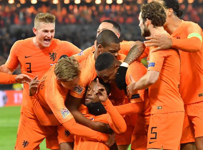 The Dutch team is delighted with their victory.