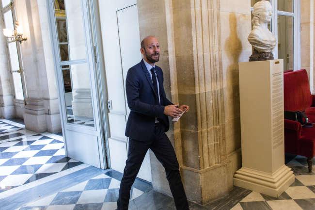 Stanislas Guerini, le 18 septembre, est le seul prétendant de poids à la présidence de La République en marche.