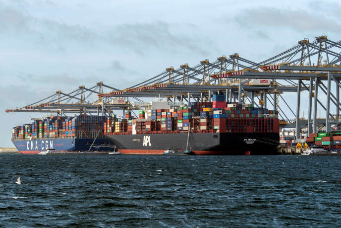 Des porte-conteneurs dans le port de Rotterdam (Pays-Bas), le 11 septembre.