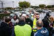 Rassemblement de « gilets jaunes » sur le parking du Carrefour de Torcy (Seine-et-Marne), le 10 novembre.