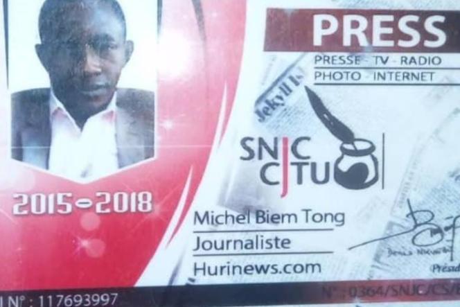 La carte de presse du journaliste Michel Biem Tong.