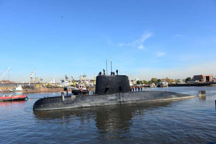 Le sous-marin «San-Juan» au port de Buenos Aires, le 2 juin 2014.