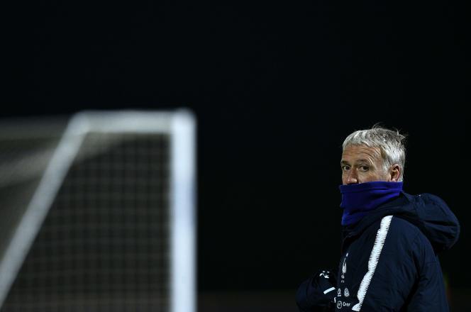 Didier Deschamps, samedi 17 novembre, à Clairefontaine.