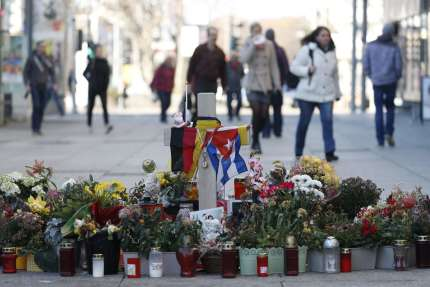 Mémorial à Daniel Hillig, poignardé dans la nuit du 25 au 26août, dans le centre-ville de Chemnitz (Allemagne), le 16 novembre.