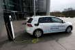 Une Volkswagen e-Golf électrique, à Dresde (Saxe), en mars 2017.