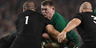 Rugby Union - Ireland v New Zealand - Aviva Stadium, Dublin, Ireland - November 17, 2018  Ireland's Tadhg Furlong in action with New Zealand's Karl Tuinukuafe   REUTERS/Clodagh Kilcoyne
