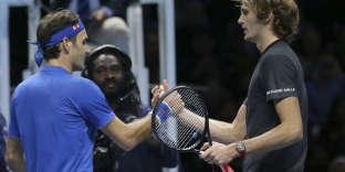 Alexander Zverev a battu en deux sets Roger Federer, samedi 17 novembre, en demi-finales du Masters