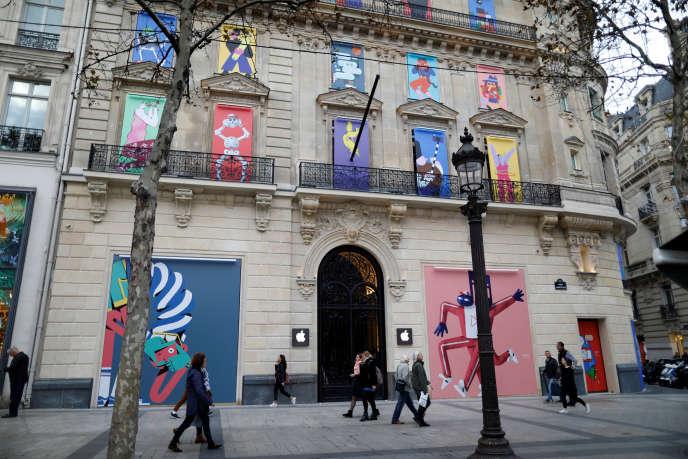 Le magasin Apple Store des Champs-Elysées à Paris, qui avait ouvert ses portes à la fin de l'année2018.