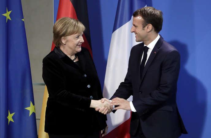 Angela Merkel et Emmanuel Macron, lors d'une rencontre à Berlin, le 18 novembre.