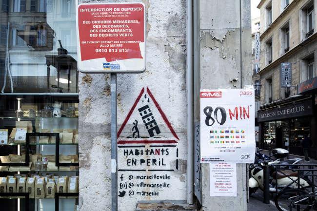 La rue d'Aubagne, à Marseille, le 14 novembre. Olivier MONGE/MYOP POUR « LE MONDE »