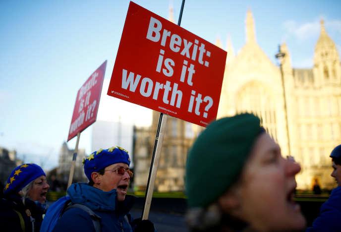 Manifestation contre le Brexit à Londres, le 19 novembre.