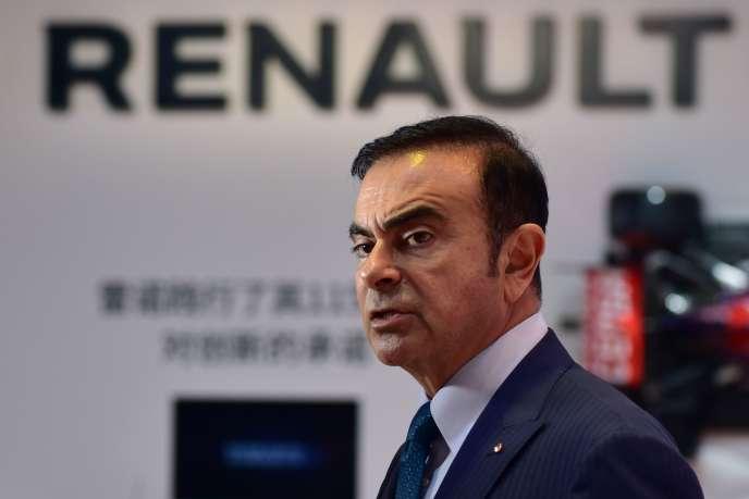 Carlos Ghosn, à Shanghai, en 2015, alors qu'il était PDG de Nissan et de Renault.