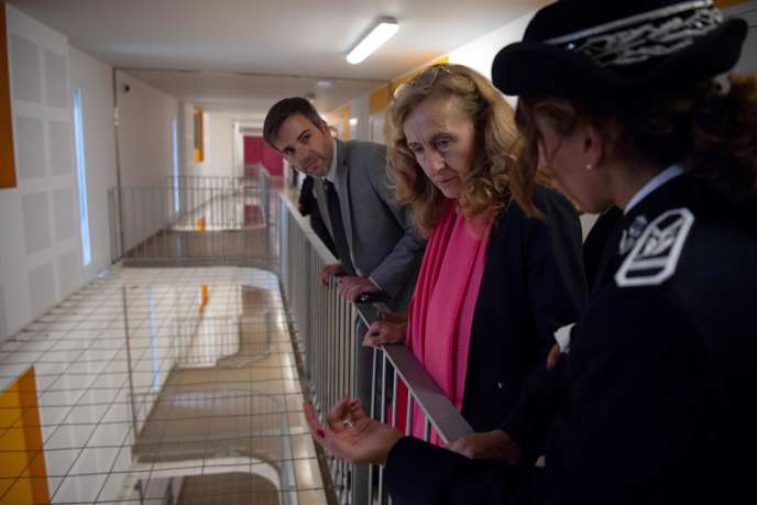 La ministre de la justice, Nicole Belloubet, visite la prison des Baumettes à Marseille, le 26octobre.