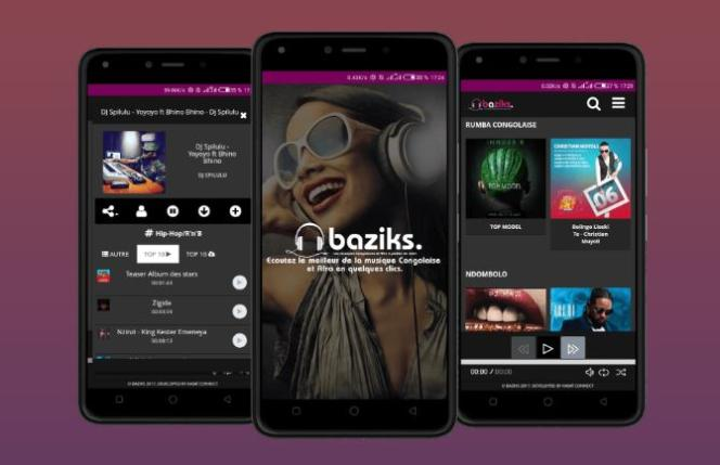 L'application de streaming Baziks.