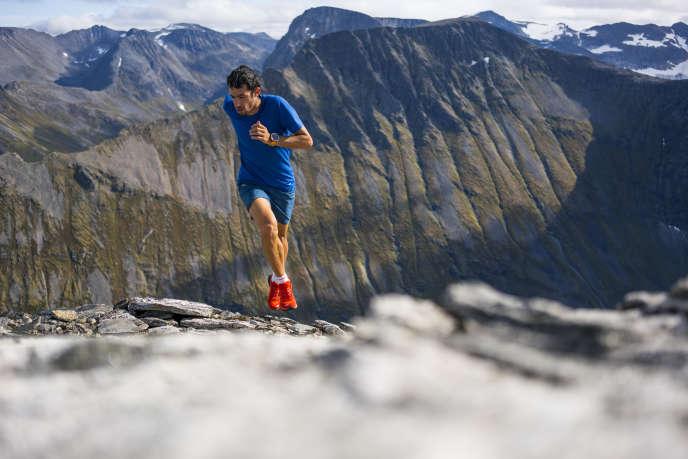 Kilian Jornet en Norvège, cet été, où il réside avec sa compagne depuis trois ans.