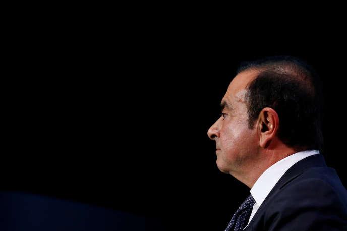 L'ancien patron de Renault-Nissan,Carlos Ghosn, lors du salon de l'automobile de Paris, le 1er octobre.