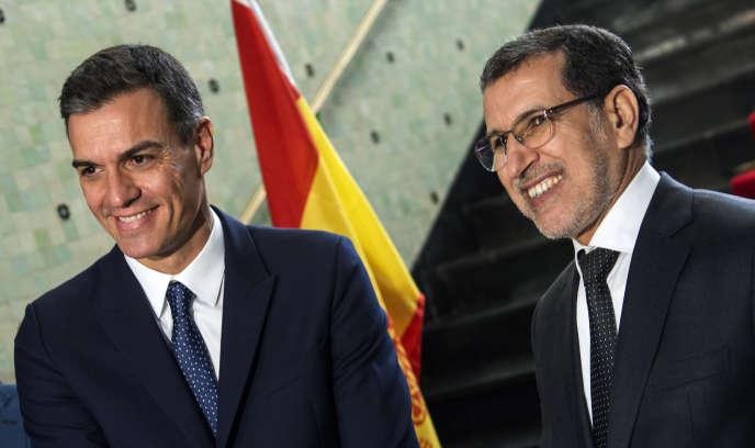 Les chefs de gouvernement espagnol, Pedro Sanchez, et marocain, Saad Eddine El Othmani, à Rabat, le 19novembre 2018.