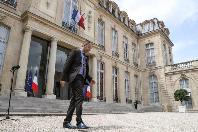 Le secrétaire général de FO, Pascal Pavageau, à l'Elysée le 17 juillet.