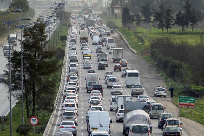 Un embouteillage à Alger, en février 2017.