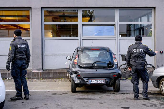 Le quartier de Hejrevej à Copenhague, peu après une fusillade, le 20 novembre 2018.
