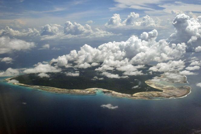 L'île de North Sentinel, dans l'archipel d'Andaman, au large de la Birmanie, le 14 novembre 2005.