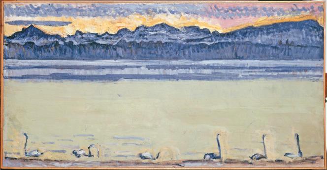 « Le lac Léman et le Mont-Blanc avec cygnes », (1964), de Ferdinand Hodler.