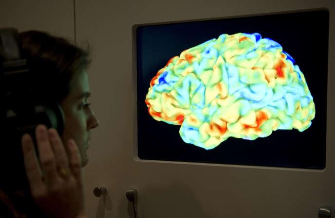 Une image par résonance magnétique d'un cerveau humain.
