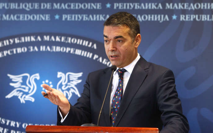 Le ministre macédonien des affaires étrangères, Nikola Dimitrov, à Skopje, la capitale du pays, le 21 novembre 2018.