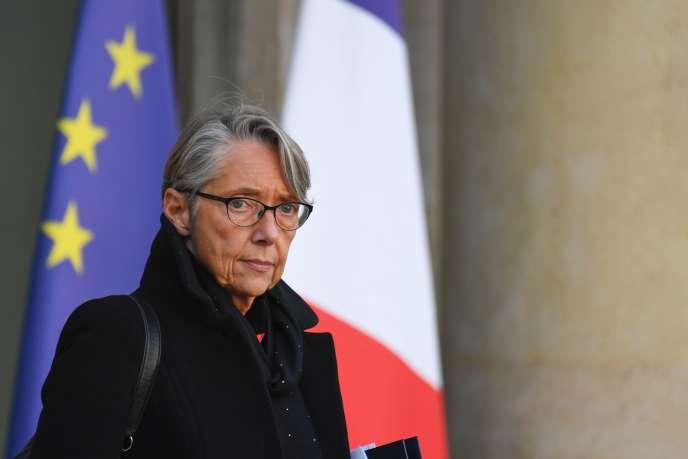 La ministre des transports Elisabeth Borne, le 21 novembre à Paris.